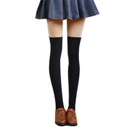 Wholesale Over Knee Tight Boots - Wholesale-Fabulous 2016 new women 4 colors warm Sexy high boots over the knee socks tights cotton long for the girls to female