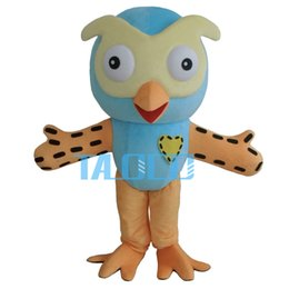 Wholesale Adult Costumes Owl - 2015 Hot Sale Professional New Style Big Blue Owl Mascot Costume Fancy Dress Adult Size
