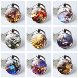 Wholesale glory plastics - Brand new Hand tour king glory game series new time gemstone key chain pendant accessories KR375 Keychains mix order 20 pieces a lot