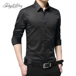 Wholesale Ds Shirt - Wholesale-Chemise Homme Classical Dress Shirt Men Casual Long Sleeved Solid Turn-Down Collar High Quality Men Business Shirt Camisa DS-038