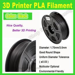 Wholesale 3d Spool - New Arrival 3d printer black Filament ABS filament 1.75mm 3MM 1kg spools for createbot 3d printer