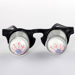 Wholesale Funny Halloween Gifts - Prank Joke Toy Funny Horror Pop Out Eyes Glasses Dropping Eyeball Glasses for Halloween Costume Parties Joke Gift Pop Out Eye Glasses