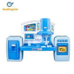 Wholesale Music Kitchen - Wholesale- LeadingStar Kids Kitchen Pretend Play Toys Light Music Simulation Cooking Tableware Set Baby Play House Toy zk30