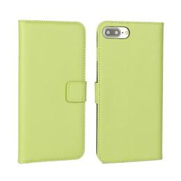 Deutschland Luxus echte Brieftasche Ledertasche für Iphone X XS 8 7 Plus Iphone8 Beutel Kreditkarte ID Karte Geld Echt Stand bunte Telefon Haut Abdeckung 120pcs Versorgung