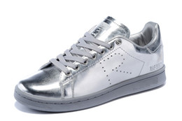 Wholesale Men Shoe Leather Design - 2016 New design Raf Simons Stan Smith Shoes Fashion Casual Leather skate Shoes brand men women Classic Flats Sneakers 36-44