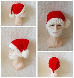 Wholesale Girls Santa Hat - Christmas Hat Beard Santa Clause Cap Cosplay White Brown Face Accessory Merry Xmas Party Decoration Christmas Gift DHL Free Shipping