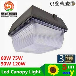 Wholesale Outdoor Canopies Wholesale - For Gas Station Lighting LED Canopy Lights 40W 60W 75W 90W 120W LED Flood Light Outdoor Lighting Flodlights AC 110-277V Warranty 5 Years