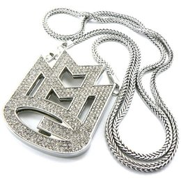 Wholesale crystal symbols - Hip hop long necklace High quality alphabetic symbol crystal pendant Fashion Jewelry for women & men free shipping