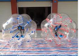 agua inflable tizip Rebajas El mejor precio de 1 m 1,2 m 1,5 m 1,8 m PVC zorb bolas de los deportes al aire libre funuy de fútbol inflable paragolpes cuerpo de la bola césped de fútbol de burbujas para los niños adultos