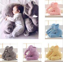 Wholesale Long Cushion Plush - 6 Colors 40cm Long Nose Elephant Dolls Elephant Pillow INS Pillows Baby Plush Toys Kids Stuffed Cushion Birthday Gift CCA7355 100pcs