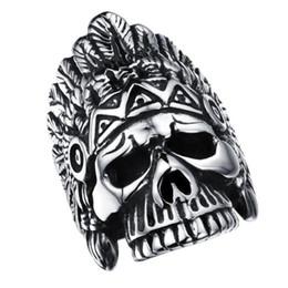 Кольцо скелетных пальцев онлайн-Личность новый дизайн один человек кольцо из нержавеющей стали 316L прохладный скелет дизайн мужчины Спорт ювелирные изделия палец полосы FGJ485