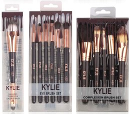 Wholesale Makes Cosmetics - kylie Jenner cosmetics Complexion Brush Set Nake Eyeshadow Palettes Foudation Makeup Brushes High Tech Make Up Tools