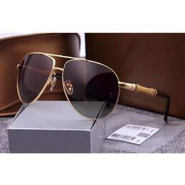Wholesale Wooden Metal Frame Glasses - 2017 luxury brand designer Driving sunglasses for men UV400 polarized sunglasses metal frame wood with box man glasses 4 color