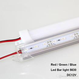 duro industrial Rebajas 50CM tira rígida SMD5630 barra de LED azul claro verde rojo impermeable U ranura 36leds DC12V LED tubo de luz led barra de luz