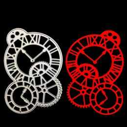 Wholesale Metal Clock Dials - The clock dial Scrapbooking Metal Cutting Dies DIY Album Embossing Stencils Die Cutting Template Paper Cards