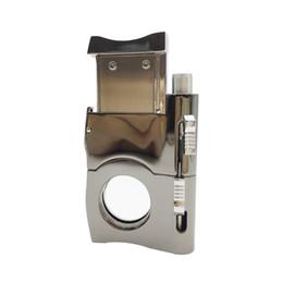 Mode mini briquet conception métallique en acier inoxydable coupe-cigares couteau à cigares couteau à cigares accessoires avec boîte-cadeau ? partir de fabricateur