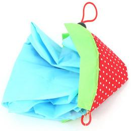 Wholesale Strawberry Reusable Tote Shoulder - Wholesale-2 PCS Eco Reusable Shopping Bags Strawberry Shoulder Bag Foldable Tote Handbag Folding Reusable Bags Random colors