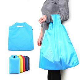Wholesale Wholesale Ripstop Nylon - Portable Foldable Shopping Bag Large Capacity Nylon Bags 5 Color Waterproof Thick Handbag Ripstop