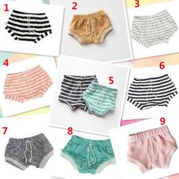 Wholesale Short Leggings Children - 9 color Newest INS Kids PP pants baby toddlers boy's girl's ins stripe pants shorts Leggings children clothes