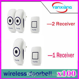 Wholesale Wireless Doorbell Sounds - 100pcs Plug-in Wireless Doorbell Operating at 1000 feet, CD Quality Sound and LED Flash, 36 Tunes Door Bell YX-ML-01