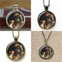 Wholesale House Paint Wholesale - 10pcs Lamia Painting by the English Pre-Raphaelite John William Water house glass Necklace keyring bookmark cufflink earring bracelet