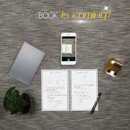 Wholesale Wholesale Pens Notepads - 2017 new Erasable Electronic Reusable Smart Wirebound Notebook with a pen Innovation Notepad Cloud Storage, Flash Storage, App Connection
