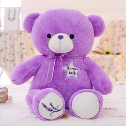 Wholesale New Toys For Girls - XS NEW Lavender Purple Teddy Bear Hug for Girl Bears Large Size Plush Toy Doll Birthday Gift Wholesale