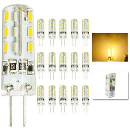 Wholesale Crystal Led Spotlight - Wholesale- 15 pcs lot G4 DC12V 3W LED Bulb 24leds SMD 3014 Led Corn Lamp for Crystal Lamp LED Spotlight Bulbs Warm Cold White