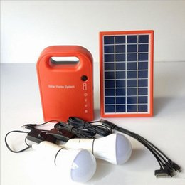 Wholesale Solar Portable Generator System - 2017 Solar Lamp Garden Light Small Solar Generator Field Emergency Charging Led Lighting System   Home Power Supply With Lamps