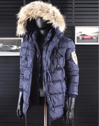 Wholesale Raccoon Hair - Hot Top Thick warm winter 90%white duck DS down jacket Double layer detachable hoodies Parkas coat Raccoon hair hooded men's Outerwear Coats
