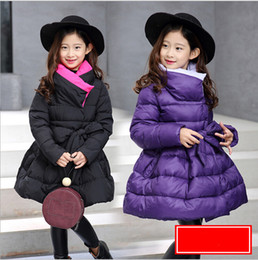 Wholesale Thick Girls Clothing - 2017 Jackets For Girls Clothes Children Clothing Girls Winter Coat Fashion Thick Cotton Jacket Parka Kids clothes Age 2-14Y Warm Outerwear