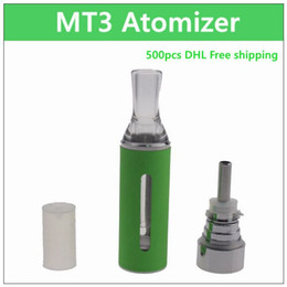 Wholesale Coil Evod Mt3 Clearomizer - MT3 ecig atomizer - DHL 2.4ml coil replaceable electronic cigarette atomizer rebuildable coil clearomizer tank for ego battery EVOD MT3 Kit