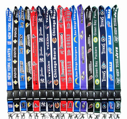 Wholesale universal card holder - 100pcs lot Football Teams Lanyard ID Card Badge Holder Detachable Keychain For Xmas Gifts Hot Sales Free Shipping