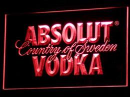 Wholesale Vodka Signs - a025 Absolut Vodka Country of Sweden Beer LED Neon Bar Sign vodka cooler sign holder