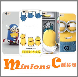 Wholesale Despicable Silicone Case Iphone - For Iphone 7 Cartoon Despicable Me Minions Minion Soft TPU Silicone Case Cover For Iphone 6s 6 Plus 5S
