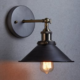 Wholesale Vintage Style Bedside Lamps - Wholesale-Modern Simple Style Vintage Wall Lamps Creative Wall Lights Little Umbrella Bedside Lamp Light Fixtures