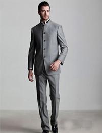 Wholesale Modern Khaki Pants - Wholesale-2016 Stylish Modern Men Suits Single Breasted Wedding Groomsmen Tuxedos Business Suit M385(Jacket+Pants)