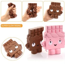 Wholesale Apples Coffee - Squishy Chocolate Pink Coffee 13cm Slow Rising Toy Relieve Stress Cake Sweet Animal PU Cell Phone Strap Phone Pendant Key Chain Toy Gift