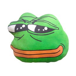 Wholesale Valentines Day Toys - 1Pc 40Cm New Sad Frog Plush Pillow Cute Animal Stuffed Cushion Children 'S Toy Gift Pillow Valentine 'S Day Gift
