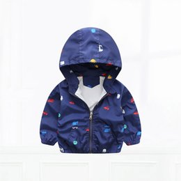 Wholesale Polyester Jacket Coat - Children Outerwear & Coats Casual Kids Clothes Polyester Children Hooded Clothes Full Kids Cartoon Jackets for Boys