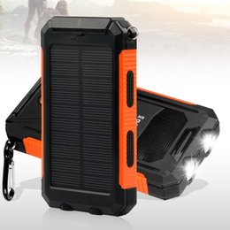 Wholesale Solar Charger Tablet - 10000mAh Solar Charger USB Solar Panel Portable Charger for iPhone, Android Smart Phone, Windows Phone and Tablets-Orange