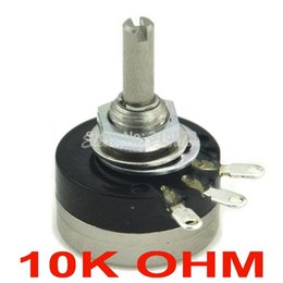 Wholesale Control Potentiometer - Wholesale- (10 pcs lot) RV16YN 15S B103 COSMOS TOCOS 10K OHM Industrial Panel Controls Rotary Potentiometer.