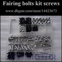 Wholesale Suzuki Gsxr 1996 - Fairing Screw Bolts Kit black For SUZUKI GSXR600 GSXR750 GSXR 600 750 96 97 98 99 00 1996 1997 1998 1999 2000 Fairings Bolts Screws