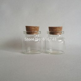 Wholesale Small Clear Jars Lids - 20PCS 13ml glass bottles cork stoppers clear glass bottle with corks lid small glass jars small glass vials with cork corked jar