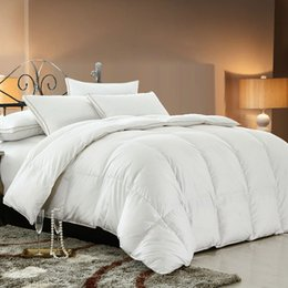 Wholesale Twin Duck Down Duvet - Wholesale-Bidekanu Brand 100% Duck Down Feather Spring Autumn Quilt Comforter Duvet With 100% Cotton Cover 233TC Free Shipping