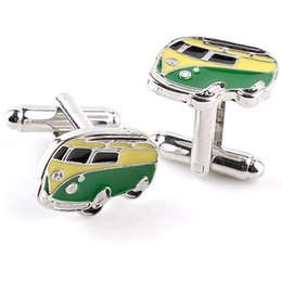 Wholesale High Bus - High Quality Alloy Bus Design Cufflinks Brand Fashion Jewelry Train Cufflink For Mens Shirt Cuff Links New Year Gifts 6