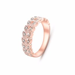 Wholesale Austrian Diamond - Top Quality Gold Concise Classical CZ Diamond Wedding Ring 18K Rose Gold Plated Austrian Crystals Wholesale