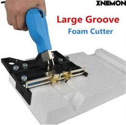 Wholesale Kt Tools - XNEMON Large Groove Electric Hot Knife Foam Cutter Heat Wire Grooving Cutting Tool Foam Cutting Pen Sponge Insulation KT Board