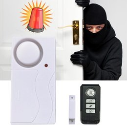 Wholesale Home Alarm Magnetic Sensors - Magnetic Wireless Window Door Alarm Children Safe Sensor Detector Panic Monitor Security Doorbell Remote Control for smart home 105dB