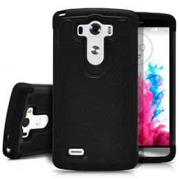 Wholesale G4 Shipping - Rugged Durable Impact Shockproof Resistant Double Layer Cover Hard Shell & Silicone Armor Case for LG G2 G3 G4 drop shipping